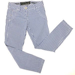 Jacob Cohen White Gingham Check Plaid Cotton Pants